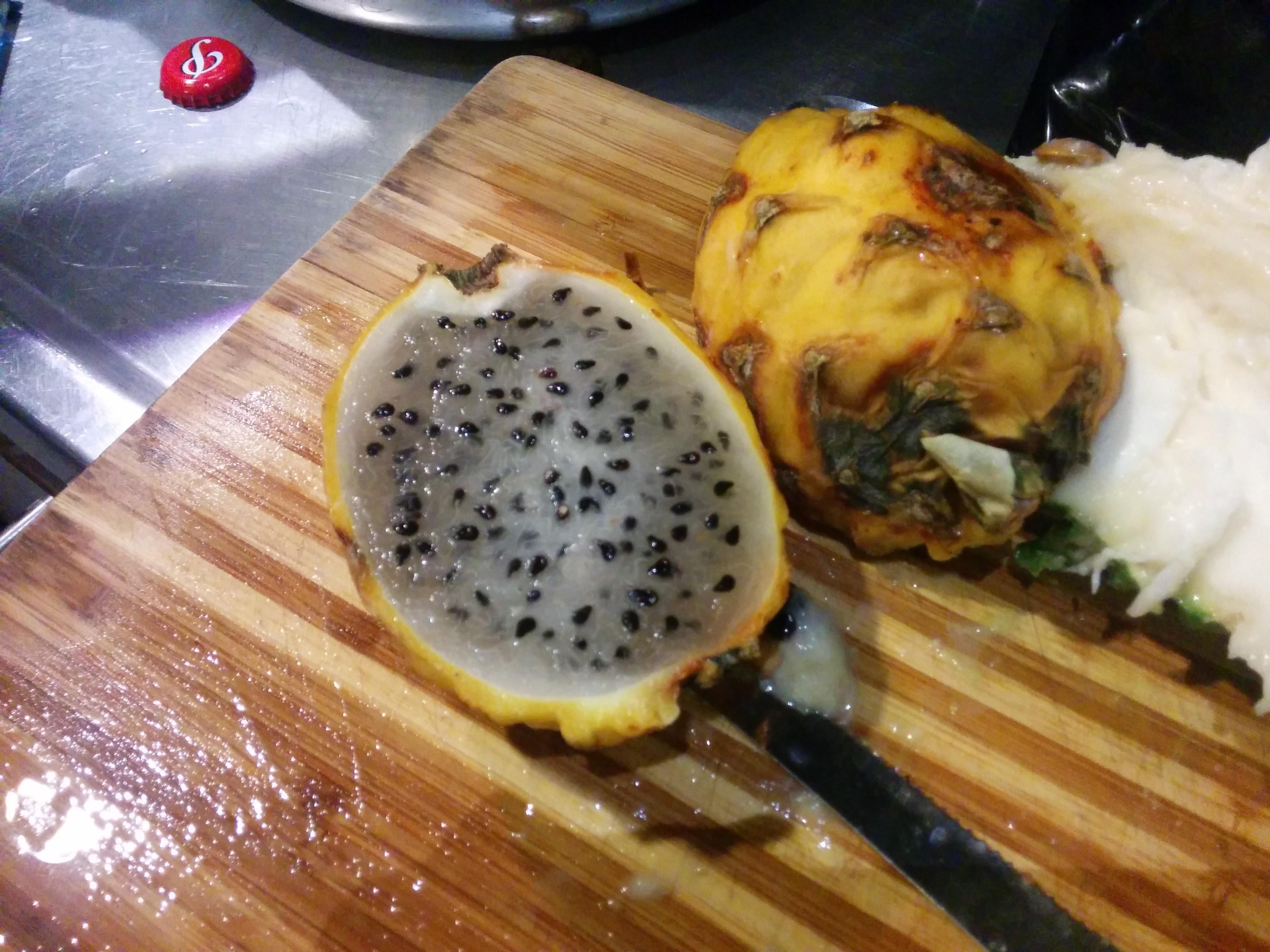 exotic pitahaya fruit