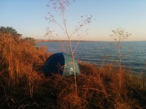 Camping outside of Odessa